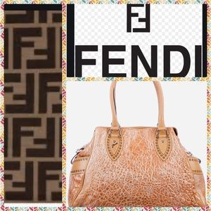 🇮🇹EEUC LIKE NEW FENDI GRANDE BAG DU JOUR BROWN